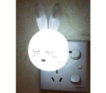 1Pcs Rabbit Switch US Plug  LED Night Light-White