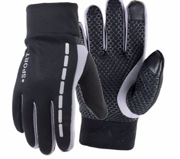 Full Finger Cycling Touch Screen Elastic Anti-slip Protective Gloves