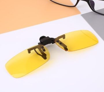 Frame Night Vision Lens Driving Outdoor Sunglasses Polarized Clip For Men Women