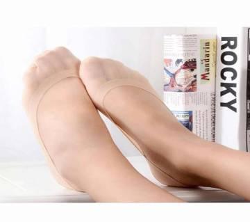 2 pairs=4 pcs Lot Women Antiskin Invisible Cotton Socks