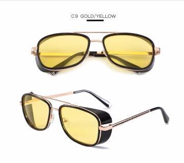 TONY stark Vintage yellow night vision transparent Sunglasses