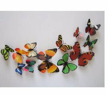 3D Megnatic Butterfly waterproof Wall sticker outdoor Decoration room wall art kitchen bedroom