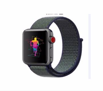 Apple watch band series 4 3 2 1 reflective strap for iwatch 42/44 mm breathable woven nylon wristband