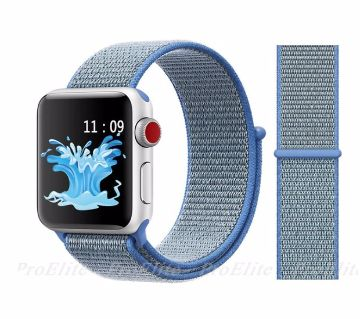 44MM/42MM Nylon Soft Replacement Strap For Apple Watch Series 4/3/2/1 (copy)-Blue