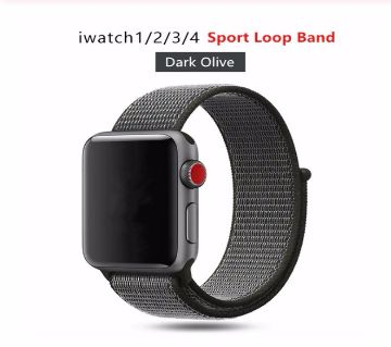 44MM/42MM Nylon Soft Replacement Strap For Apple Watch Series 4/3/2/1 (copy)-Black
