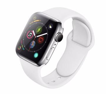 44MM/42MM Silicone Soft  Replacement Strap For Apple Watch Series 4/3/2/1(copy)-White