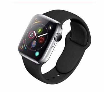 44MM/42MM Silicone Soft  Replacement Strap For Apple Watch Series 4/3/2/1(copy)-Black