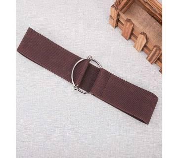 Wide Elastic Dress Metal Buckle Waist Belt For Women