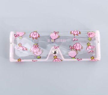 1 PCS Cute  Travel Transparent PVC Eye Glasses Cosmetic Makeup Earphone Organizer Bag Case