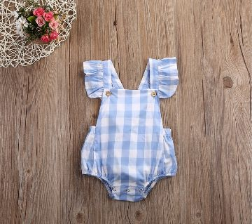 Summer Newborn Baby Girl Sleeveless Blackless Romper Clothes Outfit For(0-3 Months Baby)