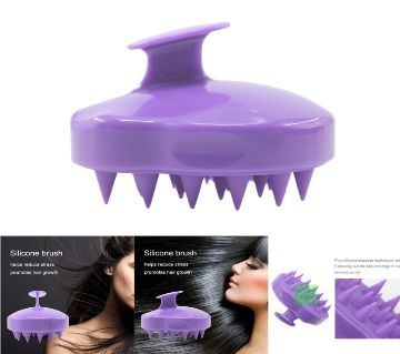1 pcs Comfortable Silicone Shampoo Scalp Massage Hair Washing Comb