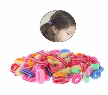 50 Pcs/pack Kids Girl Colorful Elastic Hair Bands