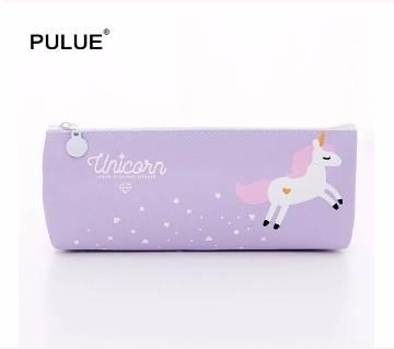 Lovely Cartoon Unicorn Zipper Cosmetic Bag/Pencil Storage Bag