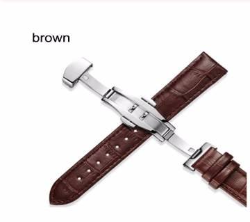 UTHAI Z09 Genuine Leather Watchbands 12mm Universal Watch Steel Buckle Strap Wrist Belt