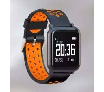22mm Silicone Sport Band Dual Color Round Hole Watch Replacement Strap
