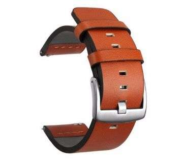 20mm Genuine Leather Watch band Strap for Gear S3 Watch