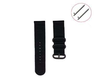 20mm Military Nylon Wrist Band Strap For Watch- Stainless Steel Buckle