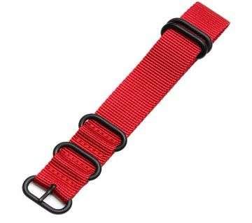20mm red nylon canvas watch  strap