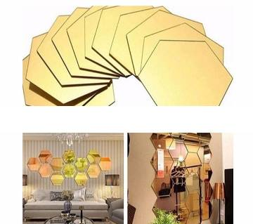 3D Mirror Hexagon Vinyl Removable Wall Sticker Decal For Home Decor-18x16cm-1Pcs