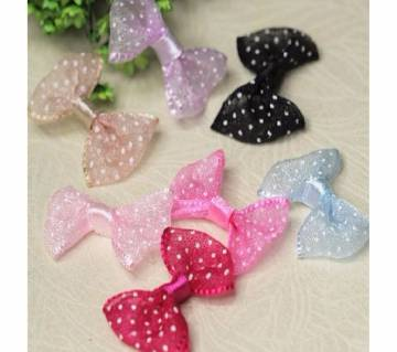 6 Pieces 3.3cm Cute Multi-color DIY bowknot For Any Decoration