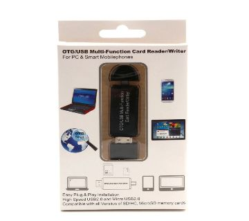 Universal OTG TF/SD Card 3 In 1 USB &Micro Usb OTG Card Reader Flash Drive for Android phone Computer Extension Headers