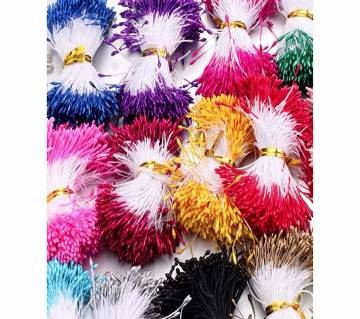 Mini Flower Artificial Pearl Pistil For Wedding Cake Gift Box  Floral Decoration-100Pcs