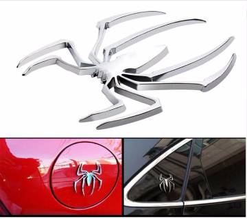3D Metal Spider Sticker Car Decor, Wall Home Decor