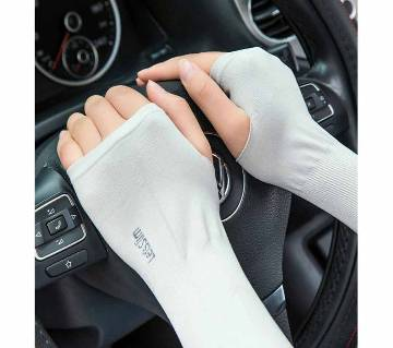 1 Pair Unisex Arm Sun Protection Warmer Long Fingerless Stretchy Arm Cover Sleeves