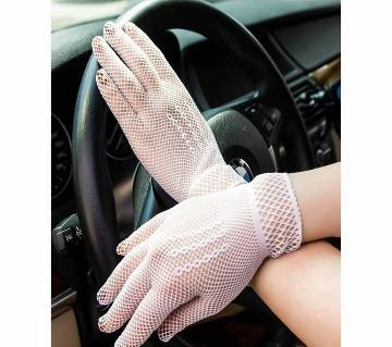 Women Summer  UV-Proof  Mesh Full Finger Gloves