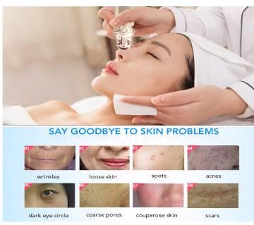 Portable Gold Derma Roller bottle refillable face Massage Roller