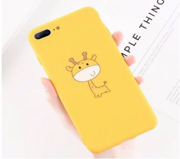 Yellow Cute Soft Silicone Case For iPhone 7 Plus