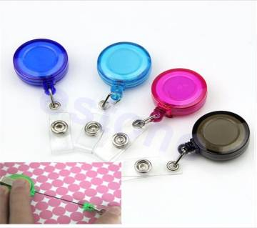 1Pc Retractable ID Card Badge Holder