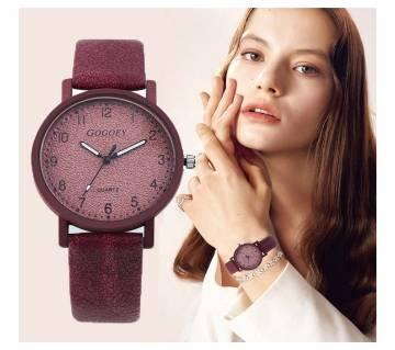 Leather Luxury Simple Women Wristwatch