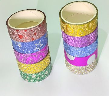 10PCS Glitter Washi Tape Stationery  Decorative Adhesive Tapes