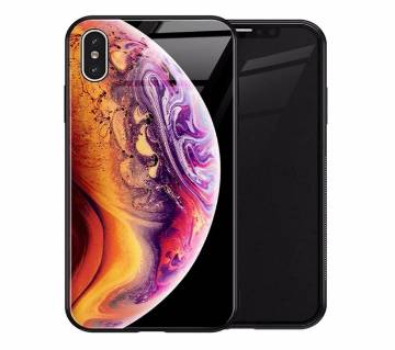TOMKAS Luxury Glass Space Cover Case for iPhone X
