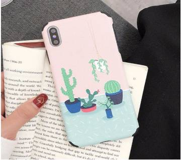 3D Relief Cactus Soft Anti-knock Cases For iPhone  X