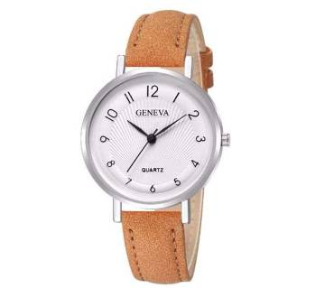 Leather Casual Analog Quartz Wrist Watches For Women