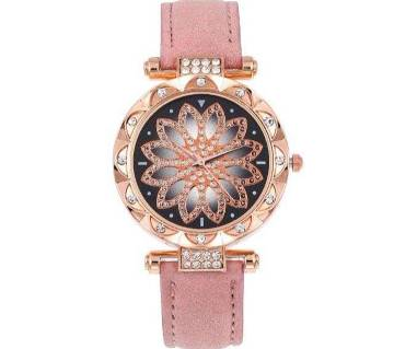 Leather Quartz Bracelet Watch For Women