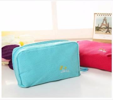 Canvas Cosmetic Bag & Passport bag