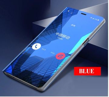 Luxury Mirror flip phone case for samsung  A20/A30