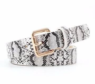 Pu Leather 105x2.3cm Waist Belt For Women