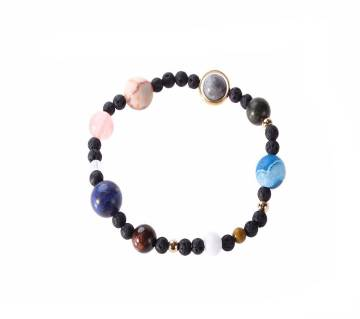 Eight Planets Natural Stone Elastic Bracelet