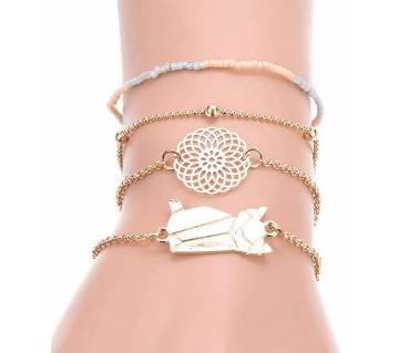 4pcs/set Adjustable Bracelets For Women Bracelets Sets