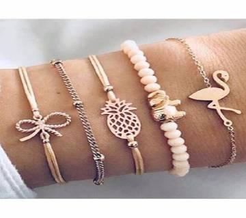 5pcs/set Adjustable Bracelets For Women Bracelets Sets