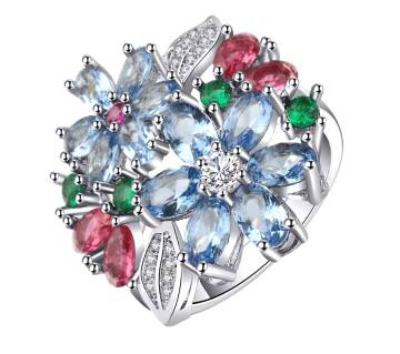 Flower Crystel Stone Ring for Women