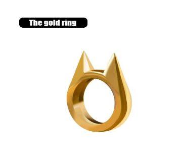 Unisex Zinc Alloy Cat Ear Shape guard Ring For Men Women