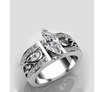 crystal shaped Zicon Stone creative Ring Fow Women