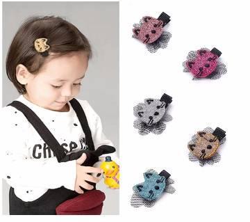 2pcs Cute Animal Print Hair Clip For Girls Hair Accessories