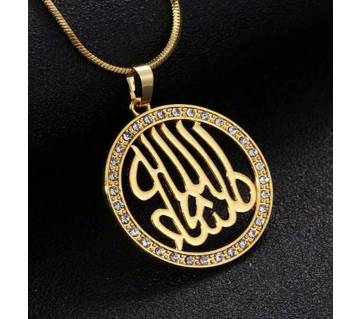 Crystal  Allah Islamic  Pendant Necklace  For Women