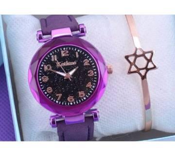 PU Leather Wrist Watch For Women